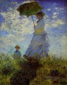 The Walk Woman with a Parasol Claude Monet